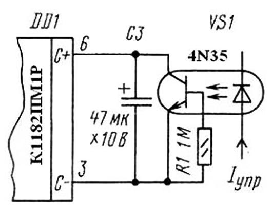 Схема управления К1182ПМ1Р от